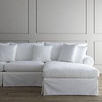"Seating - ""Covington"" Sectional - Horchow - white, cotton, twill, sectional, sofa"
