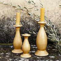 Decor/Accessories - Firenze Candlestick Holders | Ballard Designs - candlestick, holders, distressed, bisque,