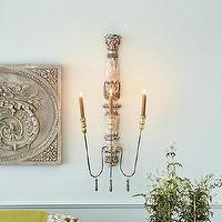 Decor/Accessories - Valletta Candle Sconce | Ballard Designs - candle, sconce, antique, carved, acanthus,