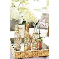 Decor/Accessories - Calypso Decorative Bottles | Ballard Designs - decorative, bottles, rattan,