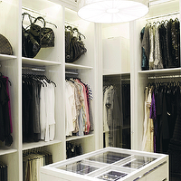 Practical Princess - closets - closet pendant, closet lighting, closet island, glass closet island, glass-top closet island, walk-in closet, built-ins, closet built-ins, built-in cabinets, closet built-in cabinets, closet cabinets, walk-in closet cabinets, walk-in closet shoe shelves, walk-in closet built-ins, walk-in closet built-in cabinets, closet storage, white closet built-ins, white closet cabinets, closet shelves, built-in closet shelves, white built-in closet shelves, walk in closet island,