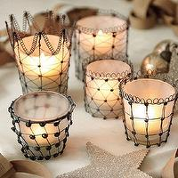 Decor/Accessories - Audrey Votives | Ballard Designs - votive, candleholders, twisted, wire, French,
