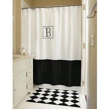 Monogrammed Classic Shower Curtain, Ballard Designs