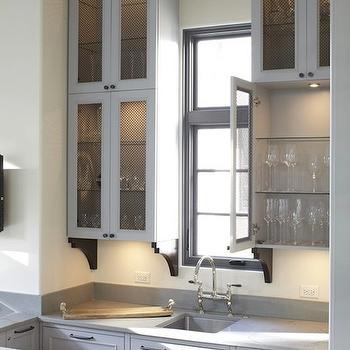 Light Gray Kitchen Cabinets, Contemporary, kitchen, Hickman Design Associates