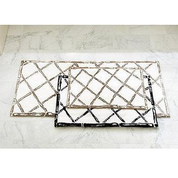 Decor/Accessories - Bamboo Trellis Bath Mat | Ballard Designs - bamboo, trellis, bath, mat, black, white, taupe,