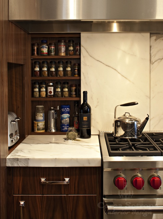 Hidden Spice Cabinet Contemporary Kitchen Corea