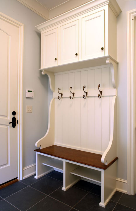 Built In Bench Traditional Laundry Room Hendel Homes