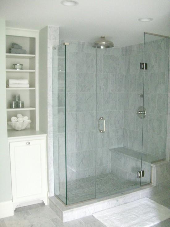 Marble Shower Surround Cottage Bathroom Molly Frey