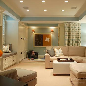 Built In Cabinets for Family Room, Contemporary, basement, Corea Sotropa Interior Design