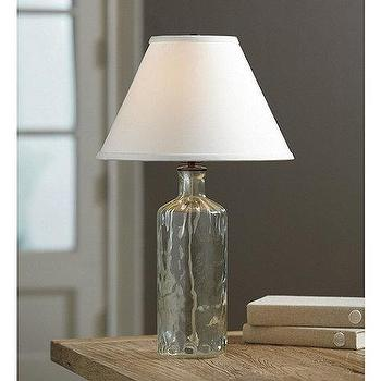 Lighting - Bordeaux Accent Lamp | Ballard Designs - recycled, glass, lamp, vintage, antique, green,
