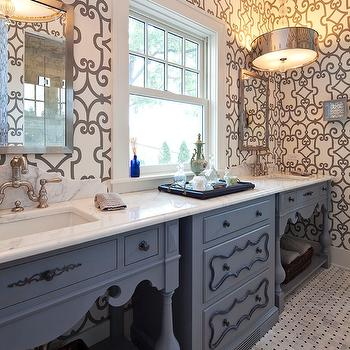 Gray and Blue Bathroom Ideas, Eclectic, bathroom, Hendel Homes