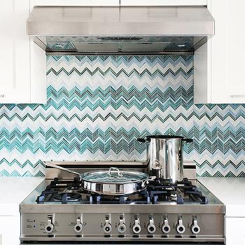 Turquoise Backsplash, Contemporary, kitchen, Jute interior Design