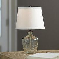 Lighting - Bordeaux Petite Lamp | Ballard Designs - recycled, glass, green, lamp, bottle, vintage, antique,