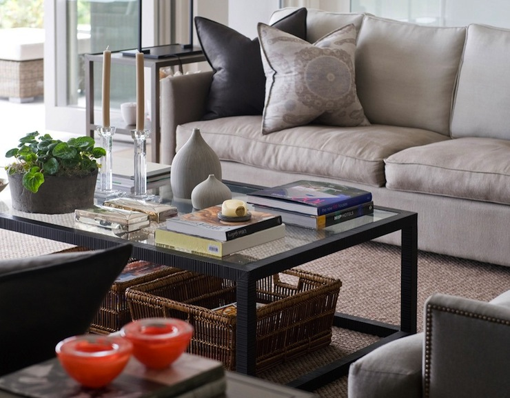 Room Walls Design Living Rooms Media Bookcase Black Gray Beige Linen Sofa Armchair