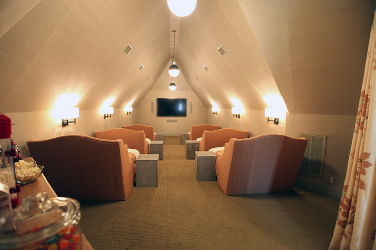 attic movie room cottage media room urban grace