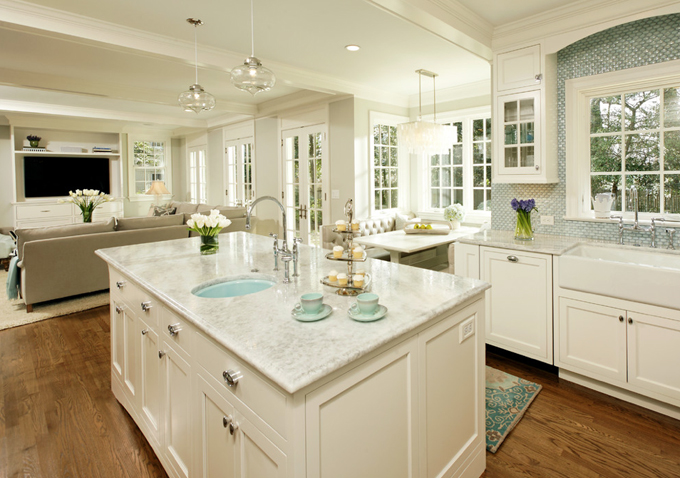 White Princess Quartzite - Contemporary - kitchen - Harry Braswell Inc