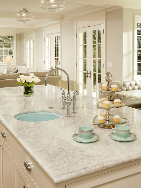 White Princess Quartzite Contemporary Kitchen Harry