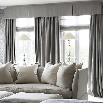 Gray Drapes, Traditional, living room, Marco Meneguzzi