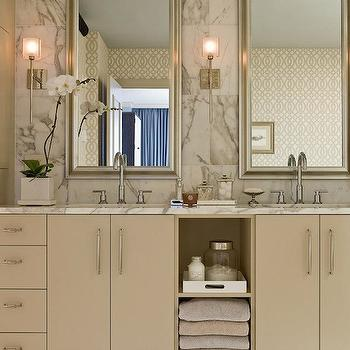 Tan Bathroom Cabinets, Contemporary, bathroom, Terrat Elms Interior Design