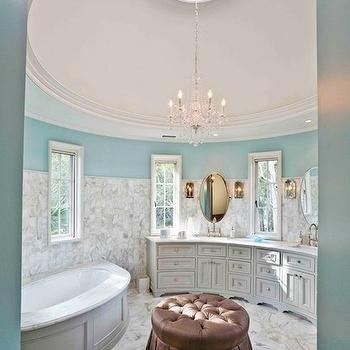Turquoise Bathroom, Traditional, bathroom, Herlong & Associates