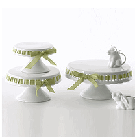 Decor/Accessories - Ribbon Cake Stand Set by Two's Company - Organize.com - white, ceramic, cake, stand,