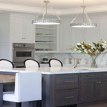 White and Grey Kitchen, Contemporary, kitchen, Milton Development