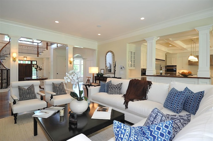 Open Floor Plan Traditional Living Room Jillian
