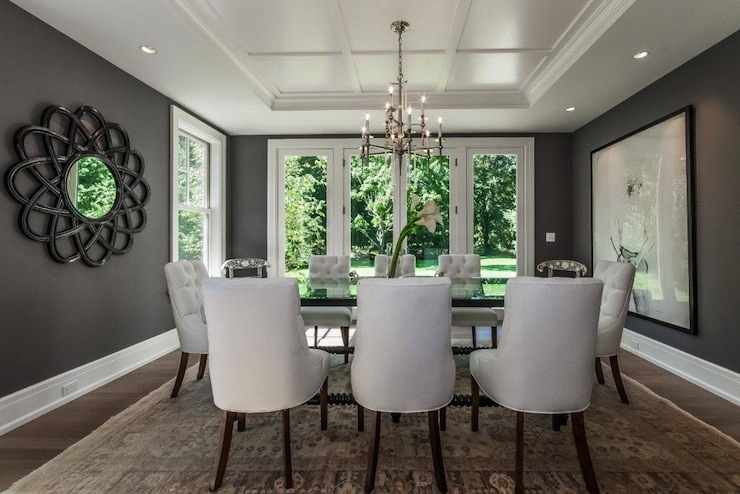 chair chic dining room gray dining room charcoal gray charcoal