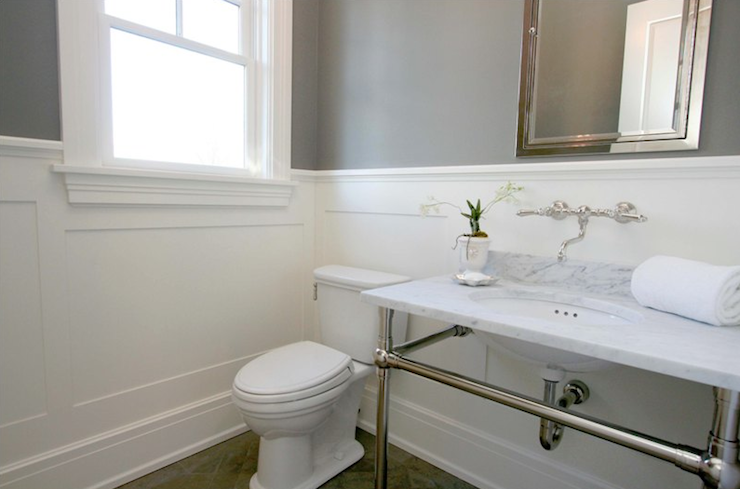 Marble Top Bathroom Vanity - Transitional - bathroom - Milton ...