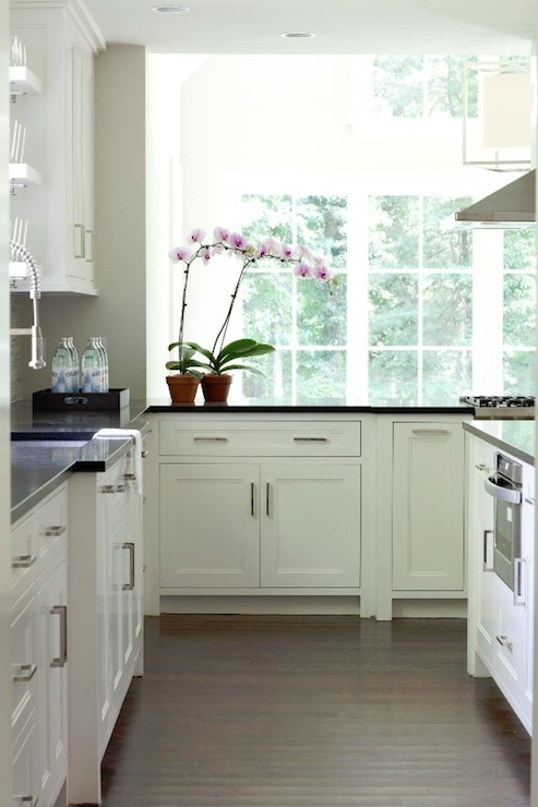 White Inset Cabinets Contemporary Kitchen Milton Development