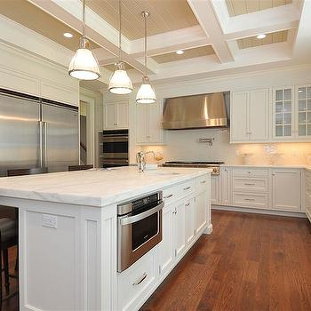 Coffered Ceiling Kitchen, Traditional, kitchen, Jillian Klaff Homes