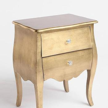 Tables - Brass Leaf Side Table - Urban Outfitters - brass, leaf, side, table, accent,