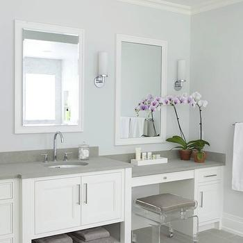 Lucite Stool, Transitional, bathroom, Milton Development