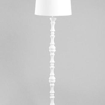 Lighting - Monochromatic Floor Lamp - Urban Outfitters - white, monochromatic, floor, lamp, carved,