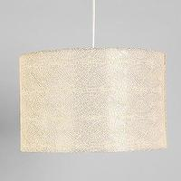 Lighting - Embroidered Pendant Shade - Urban Outfitters - cream, tonal, embroidered, shade,