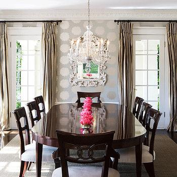 Rococo Mirror, Traditional, dining room, Abby Wolf Weiss Interiors