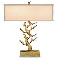 Lighting - Algonquin Table Lamp design by Currey & Company | BURKE DECOR - gold, branch, table, lamp,