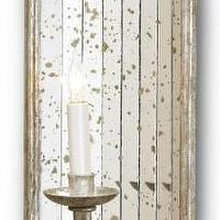 Lighting - Twilight Wall Sconce by Currey & Company | BURKE DECOR - mirrored, wall, sconce, antiqued,