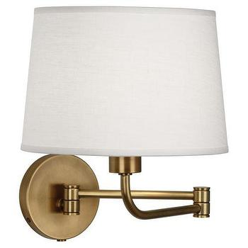 Lighting - Swing Arm Sconce design by Robert Abbey | BURKE DECOR - swing, arm, sconce, aged, brass,