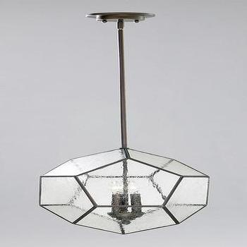 Lighting - Pentagon Pendant design by Cyan Design | BURKE DECOR - pentagon, glass, iron, pendant, bronze, oiled,