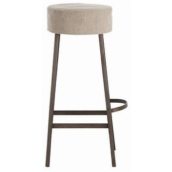 Seating - ARTERIORS Home Rochefort Iron / Wood / Linen Bar Stool | Wayfair - iron, linen, removable, barstool,