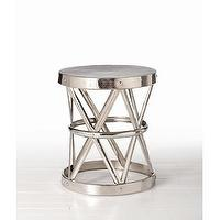 Tables - ARTERIORS Home Costello Side Table in Polished Nickel | Wayfair - side, table, polished, nickel,