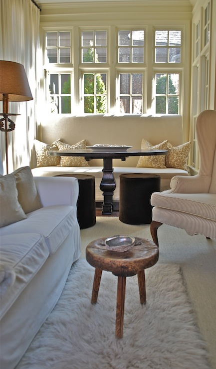 Light And Airy Sunroom Cottage Living Room Vreeland Road