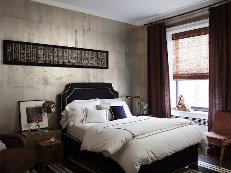 black headboard eclectic bedroom nate berkus design