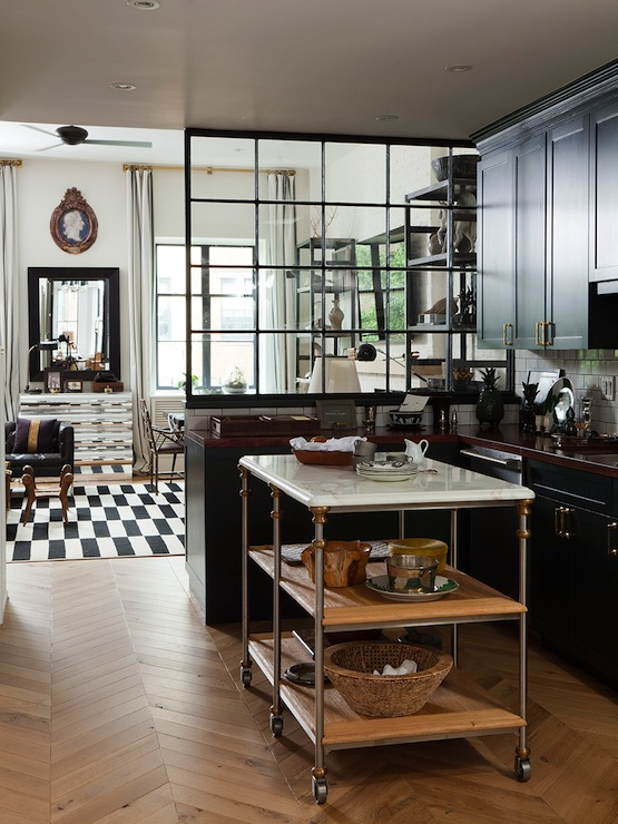Wood herringbone floor contemporary kitchen nate Nate berkus kitchen design