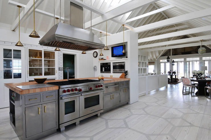 Honeycomb painted floor contemporary kitchen nate Nate berkus kitchen design
