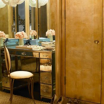Mirrored Vanity, Hollywood Regency, closet, Nate Berkus Design