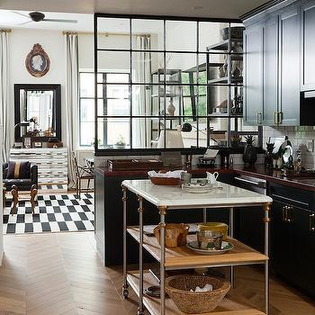 Wood Herringbone Floor, Contemporary, kitchen, Nate Berkus Design