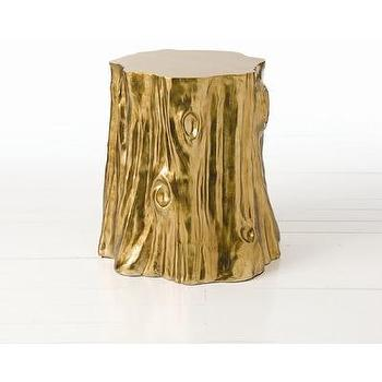 Tables - ARTERIORS Home Subin Stump Table | Wayfair - gold, foil, tree, stump, accent, table,