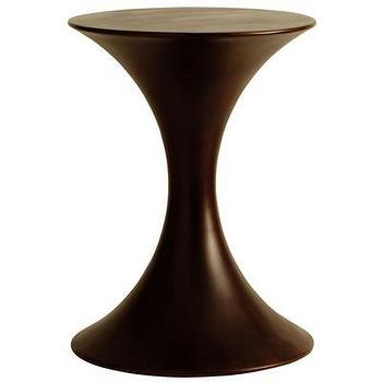 Tables - ARTERIORS Home Painted Resin Accent Table | Wayfair - painted, resin, brown, accent, table,
